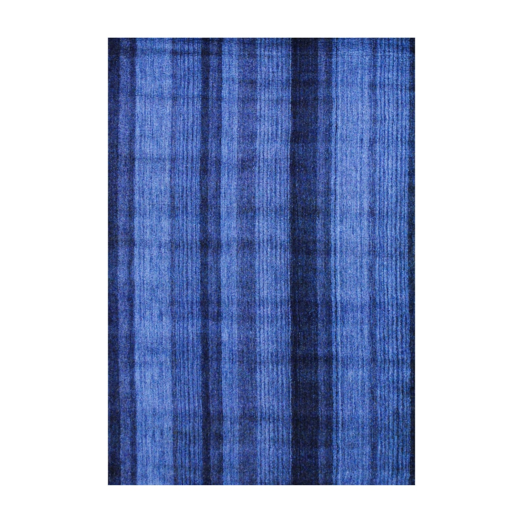 Herat Oriental Indo Hand-knotted Tibetan Blue Wool Rug (4' x 6') - Thumbnail 0