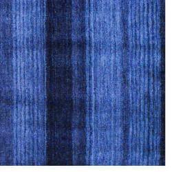 Herat Oriental Indo Hand-knotted Tibetan Blue Wool Rug (4' x 6')