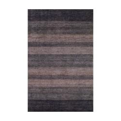 Herat Oriental Contemporary Indo Hand-knotted Tibetan Brown Wool Rug (4' x 6')