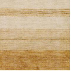Indo Hand-Knotted Tibetan Beige Wool Rug in a Striped Pattern (4' x 6') - Thumbnail 2
