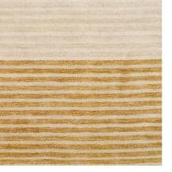 Herat Oriental Contemporary Indo Hand-knotted Tibetan Beige Wool Rug (4' x 6') - Thumbnail 2