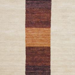 Gorgeous Indo Hand-Knotted Tibetan Beige Wool Rug (4' x 6')