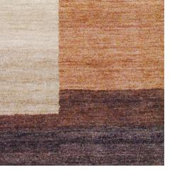 Hand-Knotted Indo Tibetan Brown Geometric Wool Rug (4' x 6') - Thumbnail 2