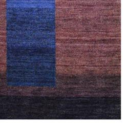 Herat Oriental Indo Hand-knotted Tibetan Striped Brown Wool Rug (4' x 6') - Thumbnail 2