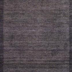 Herat Oriental Indo Hand-knotted Tibetan Brown/ Light Brown Wool Rug (4' x 6')