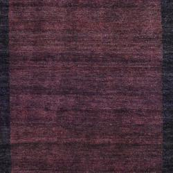 Indo Hand-Knotted Tibetan Brown/Dark Brown Wool Rug (4' x 6') - Thumbnail 1