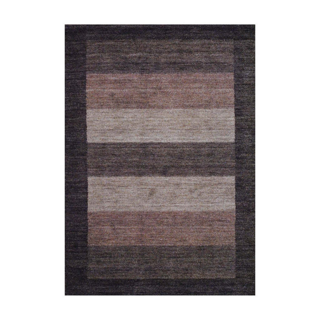 Herat Oriental Indo Hand-Knotted Tibetan Brown Wool Rug (4' x 6') - Thumbnail 0