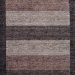 Herat Oriental Indo Hand-Knotted Tibetan Brown Wool Rug (4' x 6') - Thumbnail 1