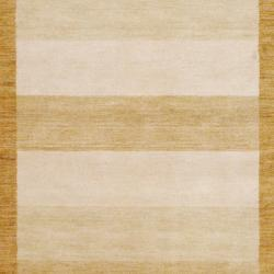 Herat Oriental Indo Hand-knotted Tibetan Beige Wool Rug (4' x 6') - Thumbnail 1