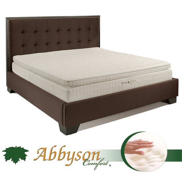 Abbyson Comfort 'Sleep-Green' 12-inch Cal-King Pillowtop Memory Foam Mattress
