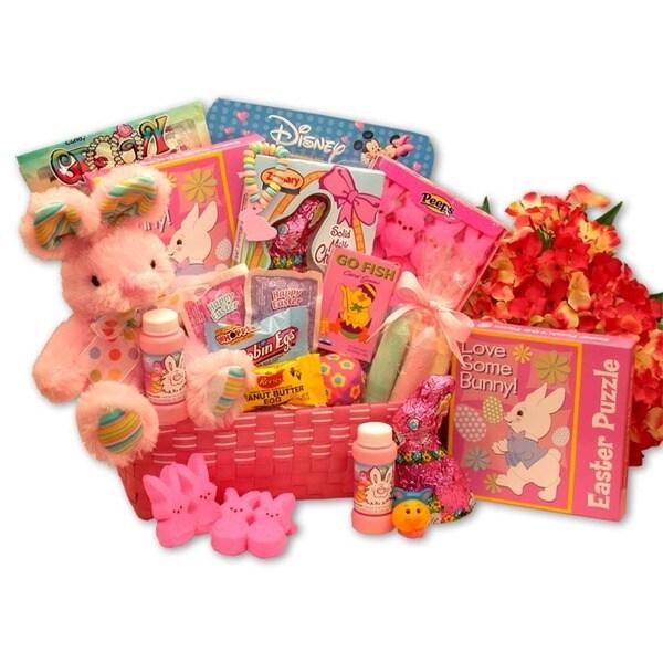Little Cottontails Pink Easter Activity Basket