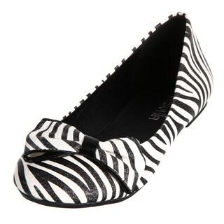 Lasonia Women's Zebra-striped Flats