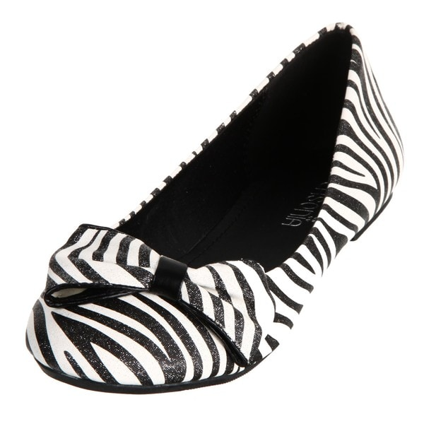 Lasonia Women's Zebra-striped Flats