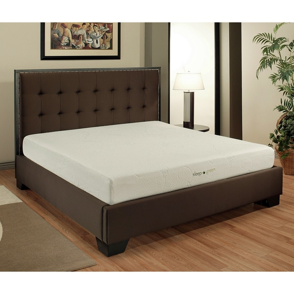 Abbyson Comfort 'Sleep-Green' 10-inch Queen-size Memory Foam Mattress