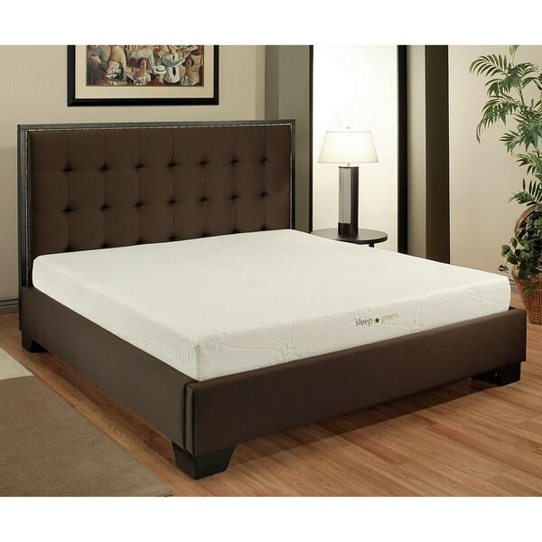 Abbyson Comfort 'Sleep-Green' Cal-King-size 8-inch Memory Foam Mattress