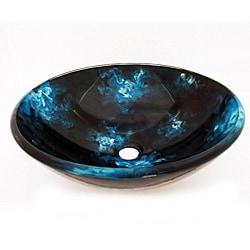 Glass Black/ Blue Sink Bowl