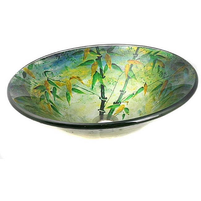 Glass Green Bamboo Sink Bowl