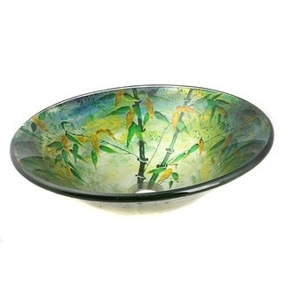Glass Green  Sink Bowl