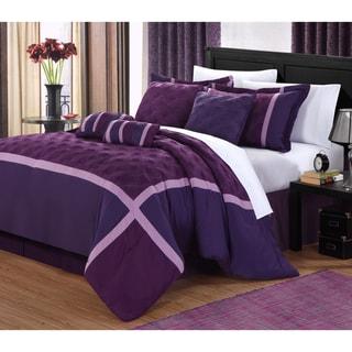 Plum Oversized 8-piece Comforter Set