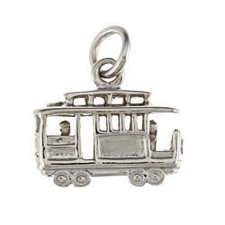 La Preciosa Sterling Silver Cable Car Charm