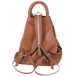 Journee Collection Women's Faux Leather Multi Pocket Backpack - Thumbnail 1
