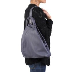 Journee Collection Women's Faux Leather Multi Pocket Backpack - Thumbnail 2
