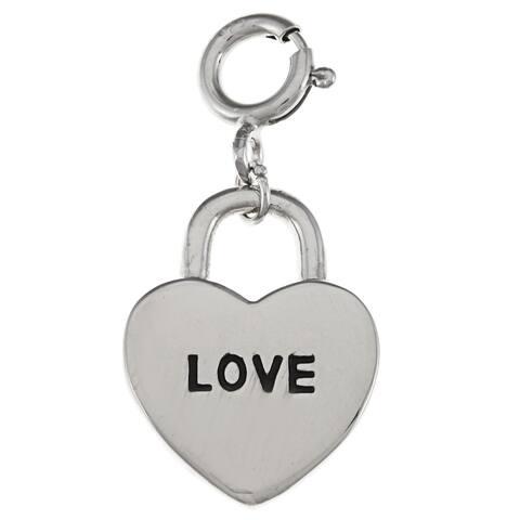 La Preciosa Sterling Silver 'Love' Heart Charm