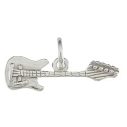 La Preciosa Sterling Silver Electric Guitar Charm