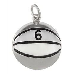 La Preciosa Sterling Silver '6' Basketball Charm