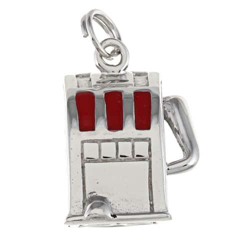 La Preciosa Sterling Silver Red Enamel Slot Machine Charm