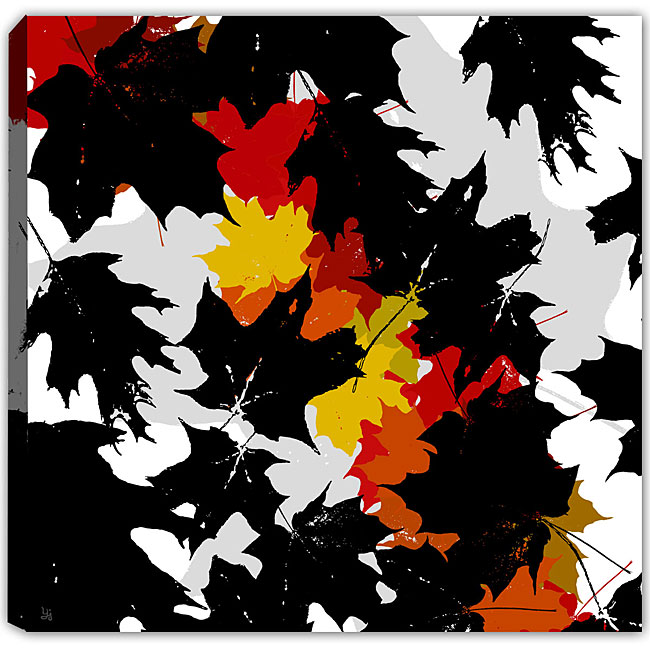 Ankan 'Leaves Falling 1' Gallery-wrapped Canvas Art