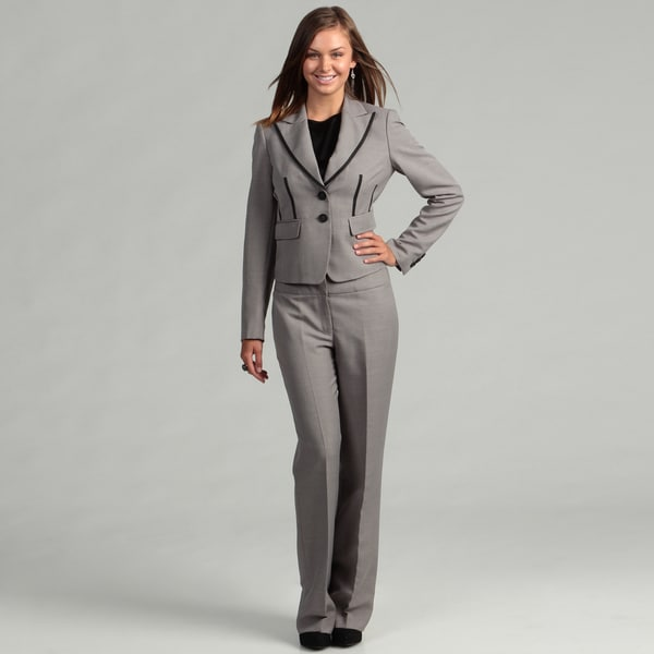 Nine West Women's Greystone Two-piece Pant Suit