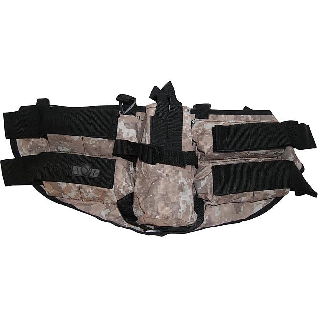 Paintball Digital Brown Camo 4 pod + 1 tank Ball Hauler Tank Harness Pack