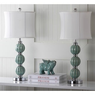 Safavieh Lighting 25-inch Jade Inspired Globes Table Lamps (Set of 2)