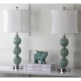 Safavieh Lighting 25-inch Jade Inspired Globes Table Lamps (Set of 2)