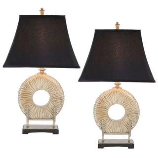 Safavieh Lighting 29.5-inch Midnight Circle Table Lamps (Set of 2)