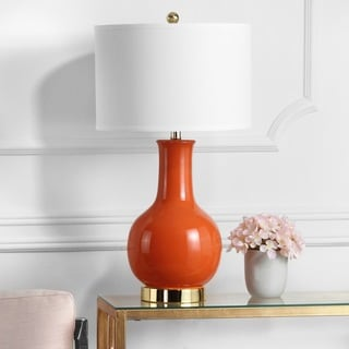 Safavieh Lighting 27.5-inch Louvre Orange Table Lamp