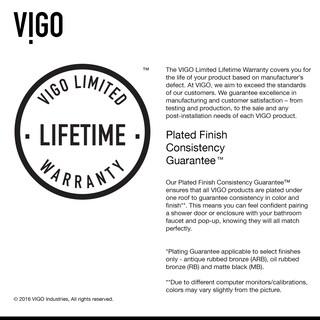 VIGO Pirouette 66-inch Pivot Shower Door Clear/Brushed Nickel