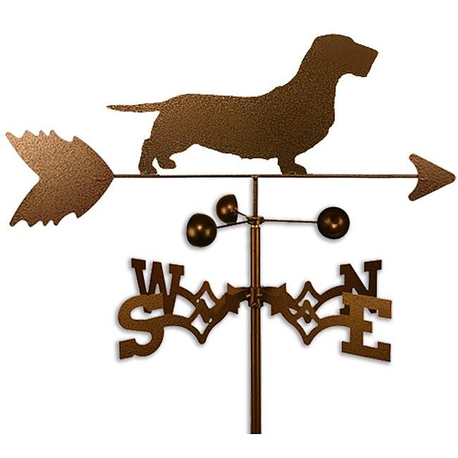 Wirehaired Dachshund Dog Weathervane