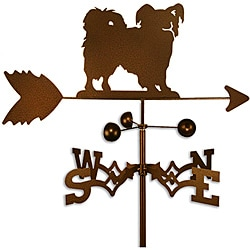 Hand-made Papillon Dog Copper Weathervane