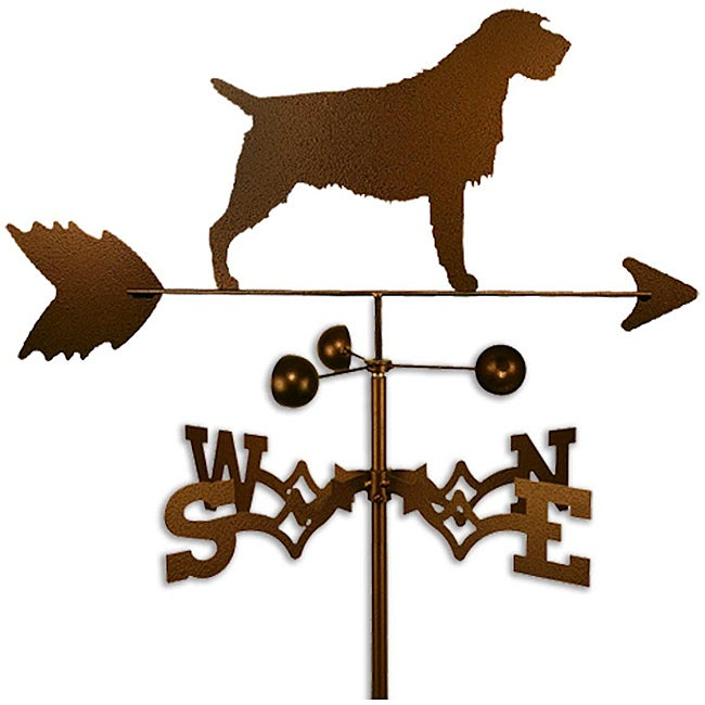 Handmade Wirehaired Pointing Griffon Dog Copper Weathervane (Flat Mount)