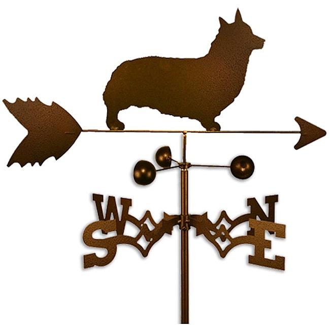 Handmade Welsh Corgi Pembroke Dog Copper Weathervane