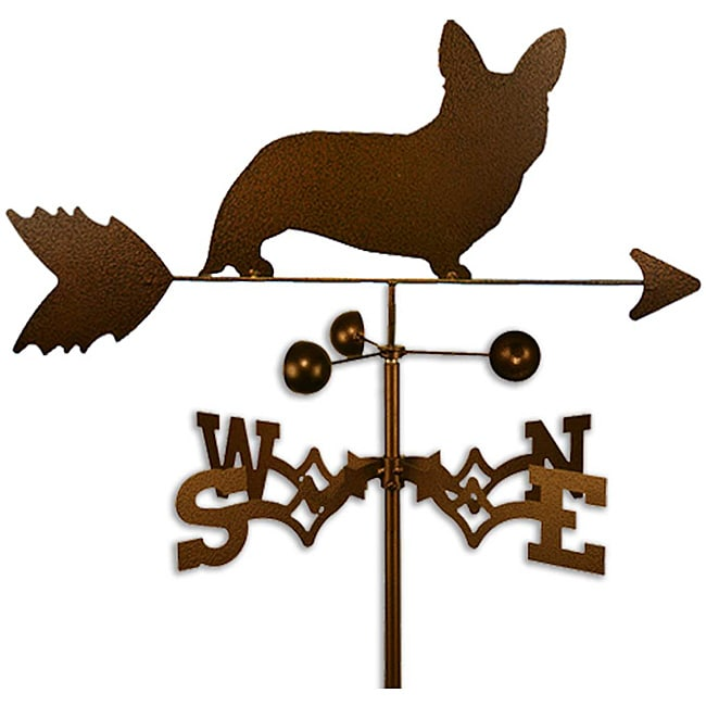 Handmade Welsh Corgi Cardigan Dog Copper Weathervane - Thumbnail 0