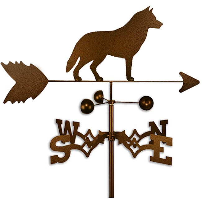 Handmade Siberian Husky Dog Copper Weathervane