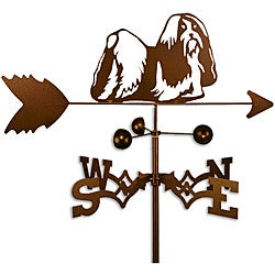 Handmade Shih Tzu Dog Copper Weathervane