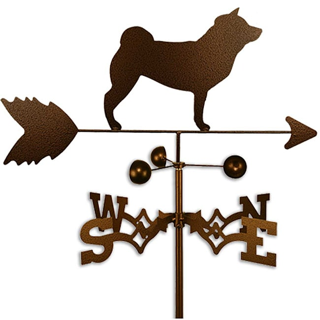 Handmade Shiba Inu Dog Copper Weathervane (Side Mount)