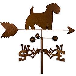 Handmade Sealyham Terrier Dog Copper Weathervane