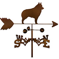Handmade Schipperke Dog Copper Weathervane