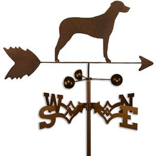 Handmade Rhodesian Ridgeback Dog Copper Weathervane (Garden Mount)