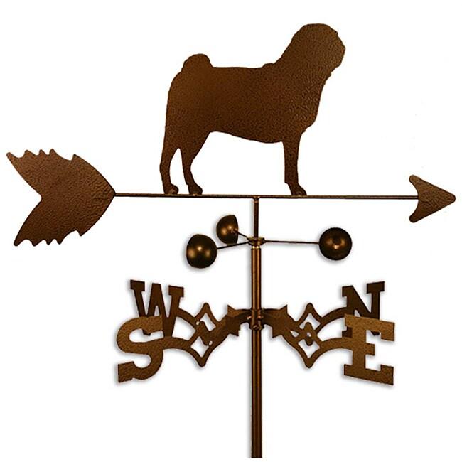 Handmade Pug Dog Copper Weathervane